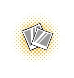 Retro photo frame polaroid comics icon vector image