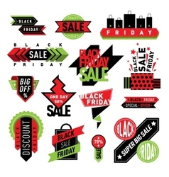 Sale badge stickers percent discount symbols vector