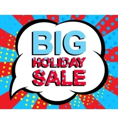 Sale poster with BIG SALE text Advertising vector image