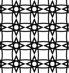Seamless black and white lattice grid pattern vector image