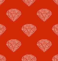 Seamless patern of vintage diamonds vector image