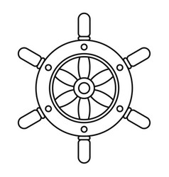 ship wheel icon outline style vector image vector image