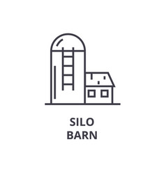 Silo barn line icon outline sign linear symbol vector