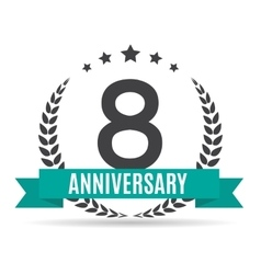 Template logo 8 years anniversary vector