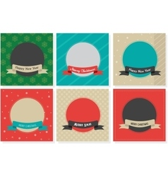 Vintage Design Template for Christmas Greeting vector image