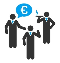 Euro discuss people flat icon vector