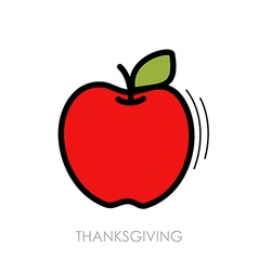 Apple icon harvest thanksgiving vector