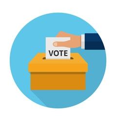 Flat voting icon vector