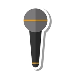 Microphone audio device isolated icon vector