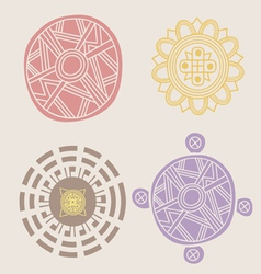 Indian ornamental collection vector