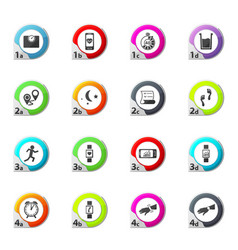 Jogging and workout monitoring apps icons set vector