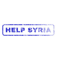 Help syria rubber stamp vector