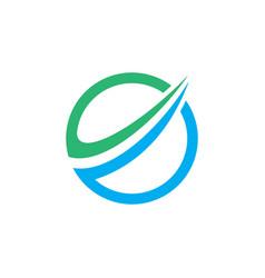 Round business finance arrow logo image vector
