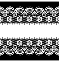 Old lace border abstract ornament texture vector