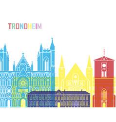 Trondheim skyline pop vector