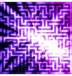 Violet maze with light vector