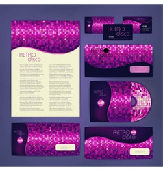 Corporate identity design disco background vector
