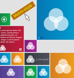 Color scheme icon sign metro style buttons modern vector