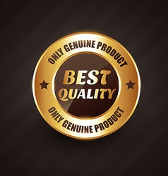 Best quality premium label badge with genuine vector