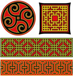 chinese graphic elements vector image