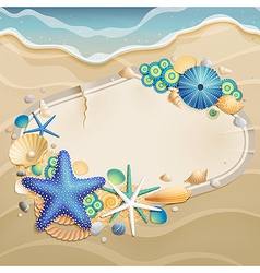 Shells and starfishes vector