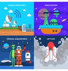 Space concept set vector