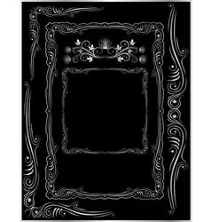 Frames corners and ornaments vector