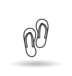 sandals icon design vector image