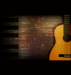 Abstract grunge piano background with acoustic vector