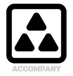 Accompany conceptual graphic icon vector