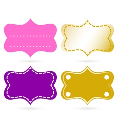 Blank ornamental tags vector image vector image