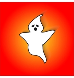 Bored ghost scares in for halloween vector