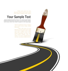 brush paved road vector image vector image