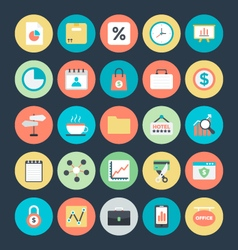 Business Colored Icons 6 vector image vector image
