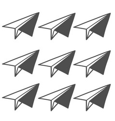 business icon with paper airplane vector image