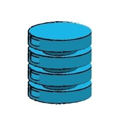 Drawing data center server network vector