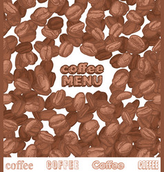 Emblem coffee menu with coffee beans vector