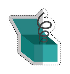 funny surprise box isolated icon vector image