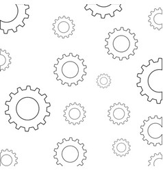 Gears machinery pieces vector