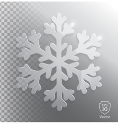 Glass transparent snowflake vector image vector image