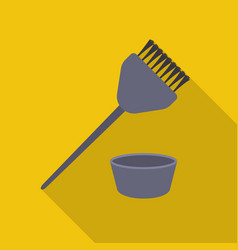 Hair coloring brush icon in flat style isolated on vector