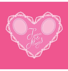 hearts lace 4 380 vector image vector image
