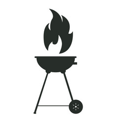 isolated silhouette of a grill vector image vector image
