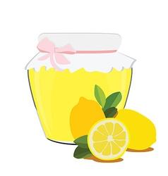 Lemon jam vector image vector image