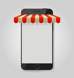 mobile phone mobile store or e-commerce concept vector image
