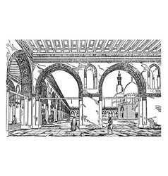 Mosque of tulun vintage vector