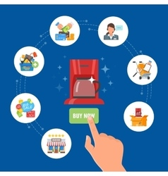 Online shopping concept in vector