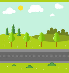 Rural landscape with road vector