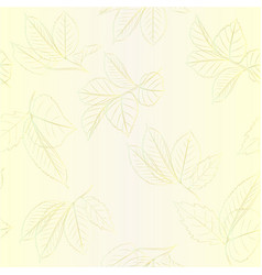 Seamless texture contour branches with leaves vector