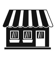 Shop icon simple style vector image vector image